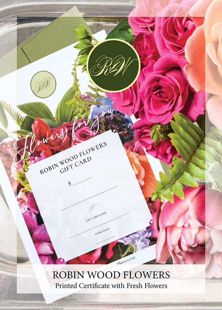 Printed Certificate & Fresh Flowers