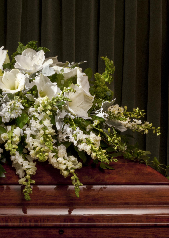 Funeral Casket Sprays Robin Wood Flowers