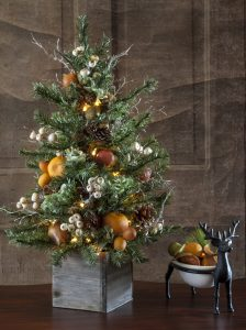 Faux Tabletop Lighted Tree