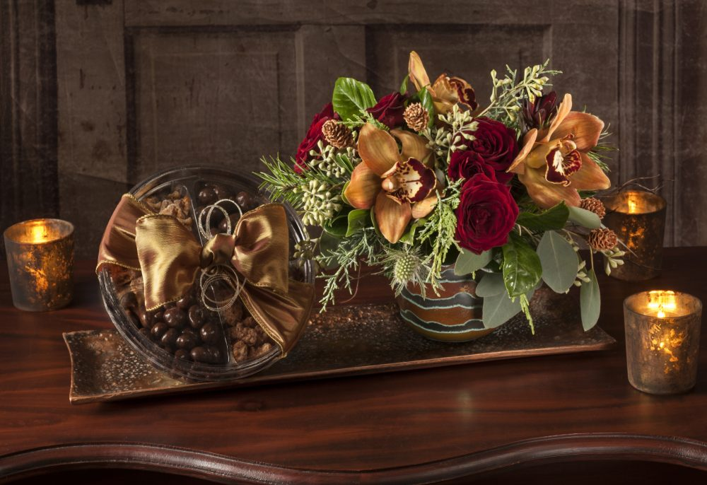 Petite Fresh Flower Arrangement with Candied Pecans