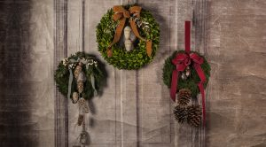Preserved Cypress and Boxwood Wreaths