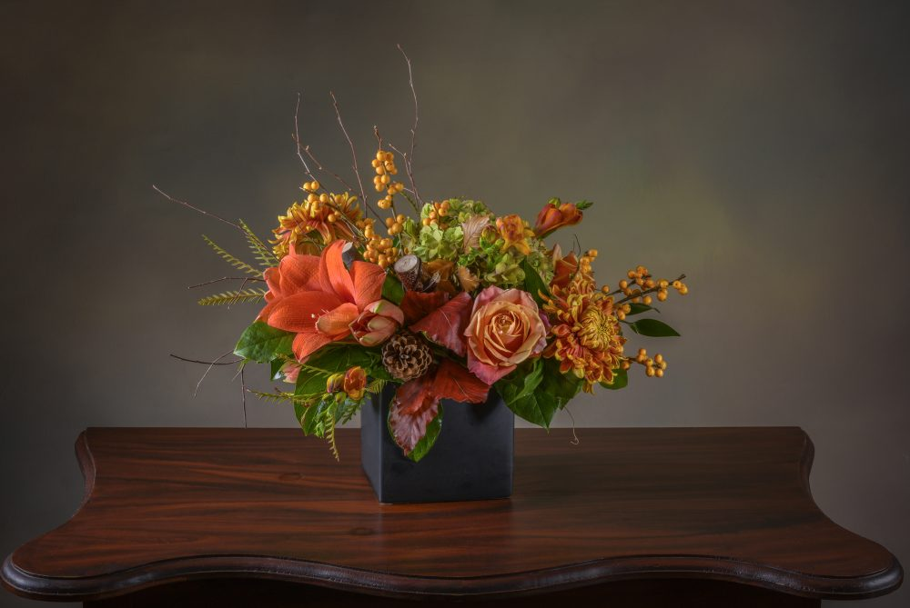 Rich autumn color with flowers and berries