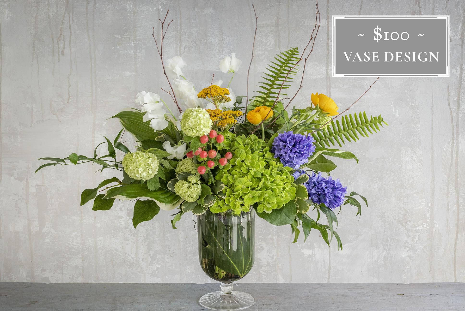 Flower Subscription Vase $100